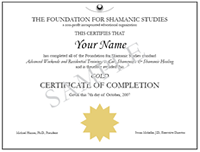 Certificate of Workshop Completion for Foundation for Shamanic ...