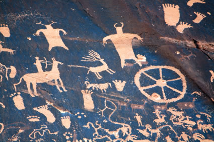 Petroglyph, Newspaper Rock, Utah
